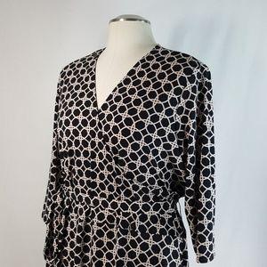 Leota Sz 28 W 4L Faux Wrap Dress Self Tie Sash